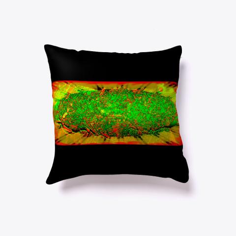Dank Cannabis Neon Rasta Nugget Pillow Black T-Shirt Back