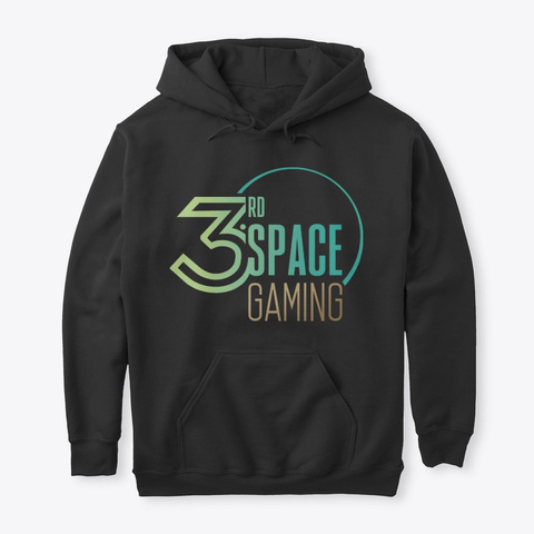 3rd Space Gaming Logo 2 Black T-Shirt Front