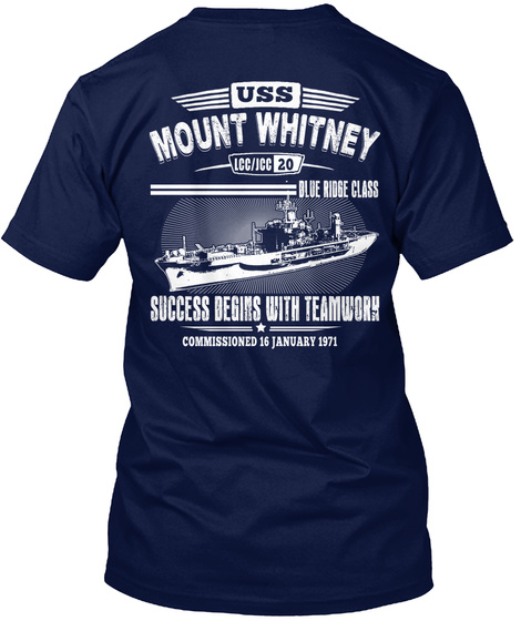 [Ltd. EDITION] USS MOUNT WHITNEY TSHIRT Unisex Tshirt