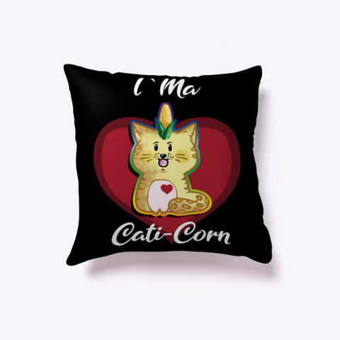 I M A Caticorn Funny Cat Gifts Black T-Shirt Front