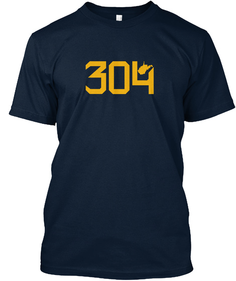West Virginia 304 New Navy T-Shirt Front