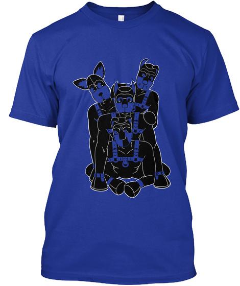 Human Pups At Play Lapis T-Shirt Front