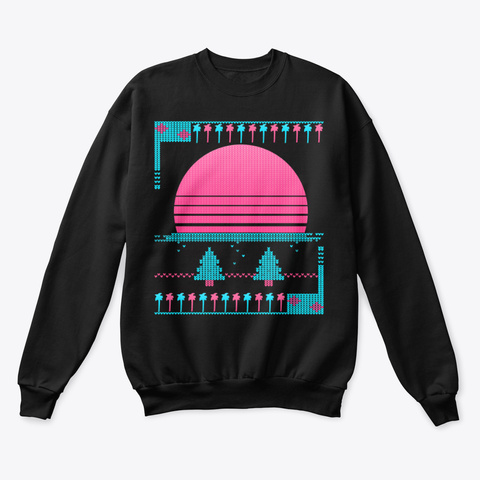 Vaporwave Christmas Sweater.80s Vaporwave Ugly Christmas Sweater Tee