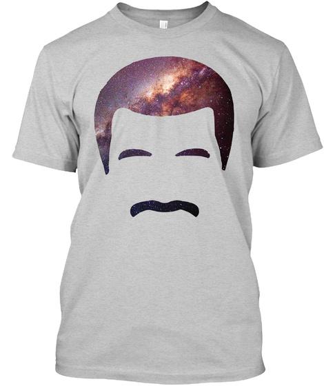 Ne!L De Grasse Tyson Silhouette T Shirt Light Steel T-Shirt Front