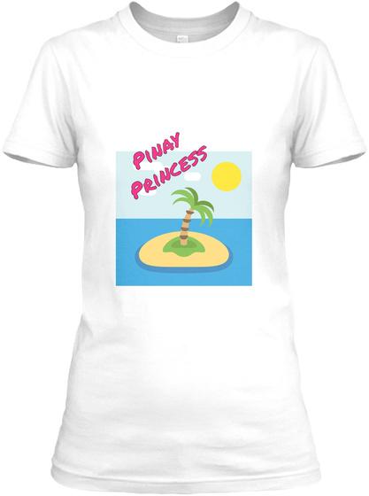Pinay Princess White Women's T-Shirt Front