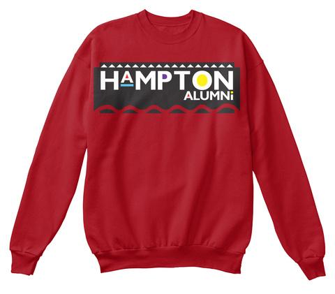 Hampton Alumni Deep Red  T-Shirt Front
