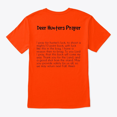 deer hunters prayer t-shirt