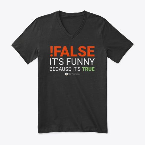!False   Kiko Palomares Black Camiseta Front