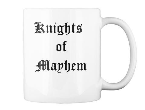 Knights Of Manhem White Mug Back