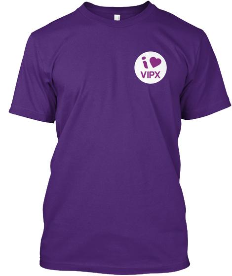 I Love Vipx Purple T-Shirt Front