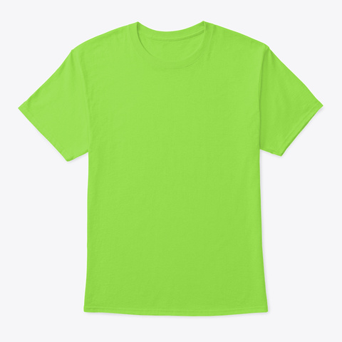 No Parties Lime T-Shirt Front