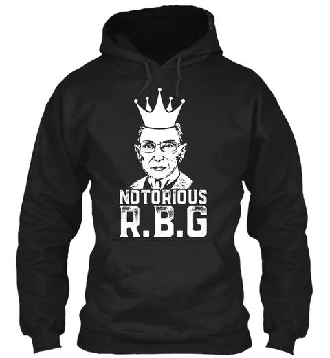 Notorious Rbg, Ruth Bader Ginsburg Shirt Black T-Shirt Front