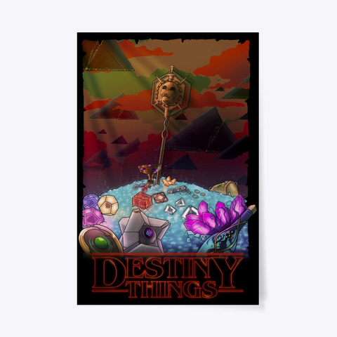 Destiny Things... Black T-Shirt Front