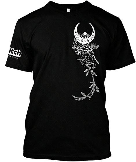 ☾◦Denae*Sketch   1st Gen Moon [T Shirts] Black T-Shirt Front