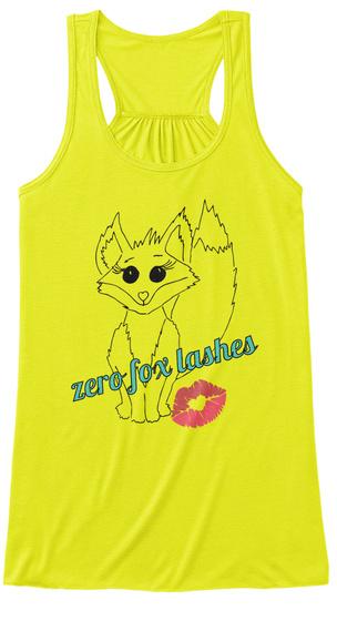 Zero Fox Lashes Neon Yellow Women's Tank Top Front