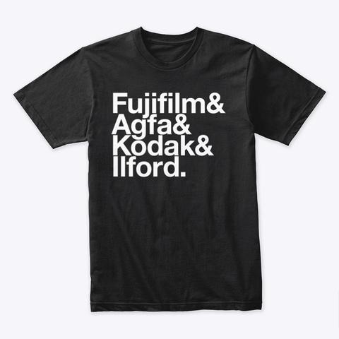 Clichés & Film Brands Black T-Shirt Front