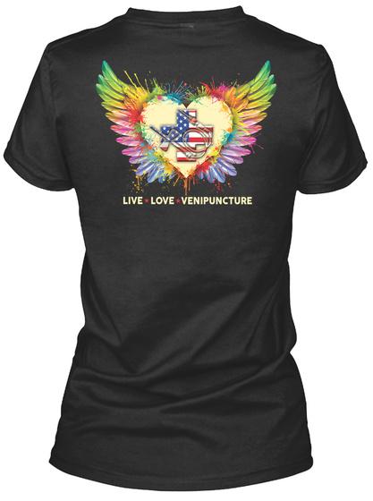 Proud Phlebotomist Shirt Black T-Shirt Back