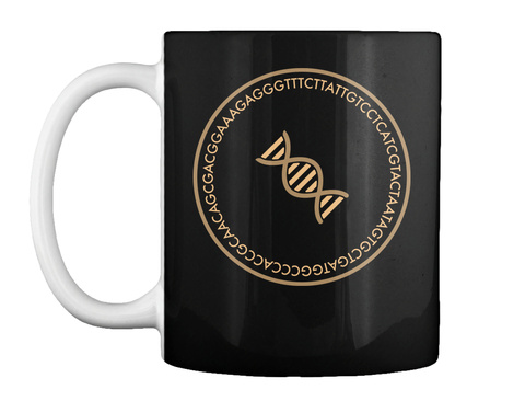 Dna De Bruijn Circle Mug Black Mug Front