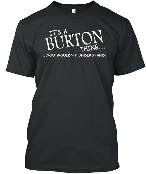 Burton Thing Black T-Shirt Front
