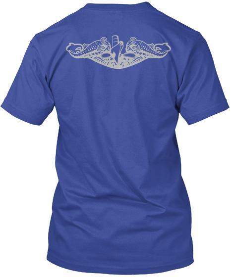 Submarine Veteran Deep Royal T-Shirt Back