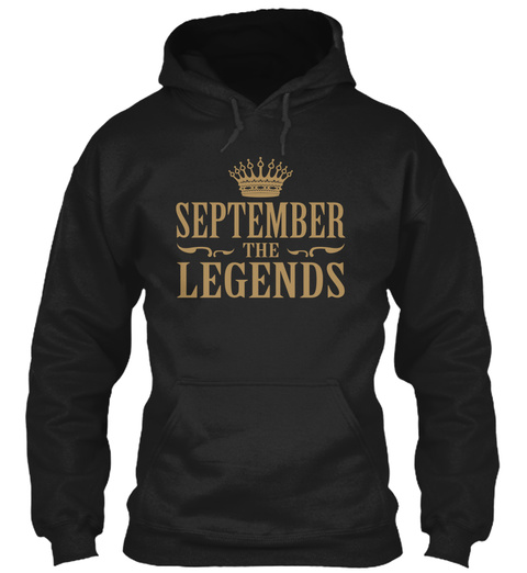 September The Legends Black T-Shirt Front