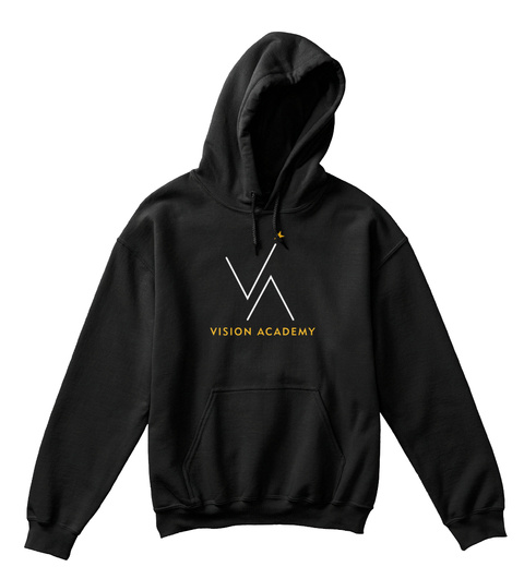 Va Youth Hoodie Black T-Shirt Front