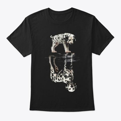 Dalmatian Black T-Shirt Front