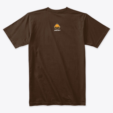 Sketchy Doodles Poster Dark Chocolate T-Shirt Back