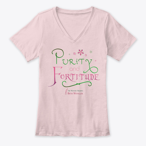 Purity And Fortitude Pink T-Shirt Front