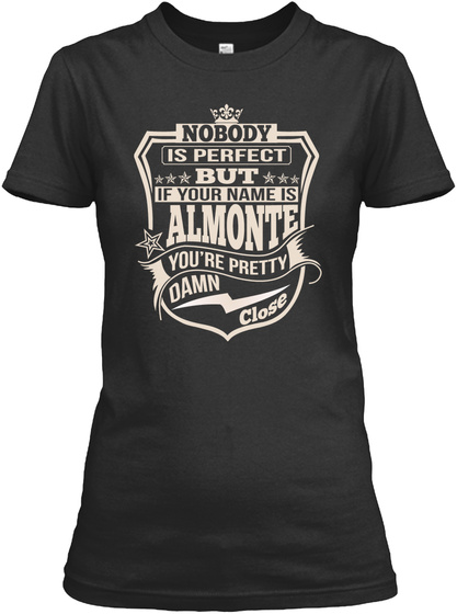 Nobody Perfect Almonte Thing Shirts Black Maglietta Front