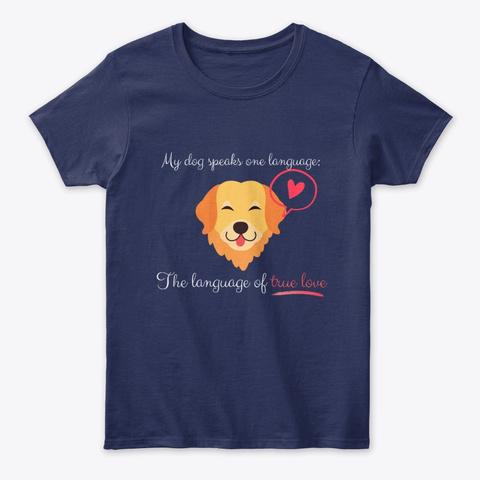 Language Of True Love: Golden Navy T-Shirt Front