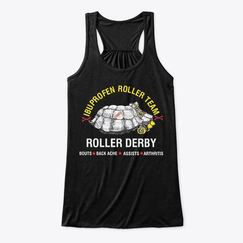 Ibuprofen Roller Team Black T-Shirt Front
