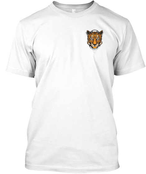 Tiger All Round White T-Shirt Front