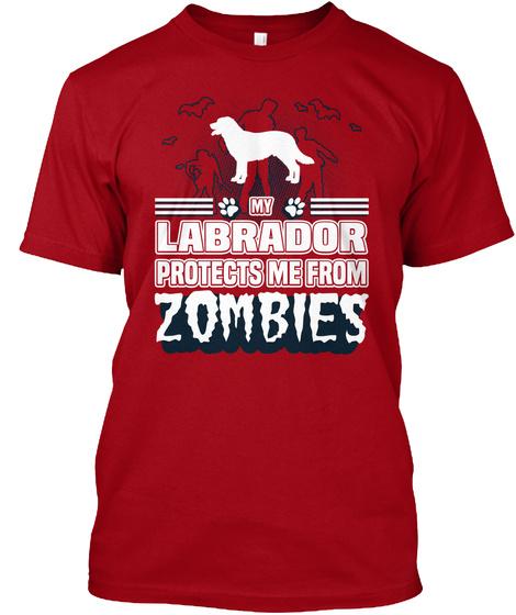Labrador Deep Red T-Shirt Front