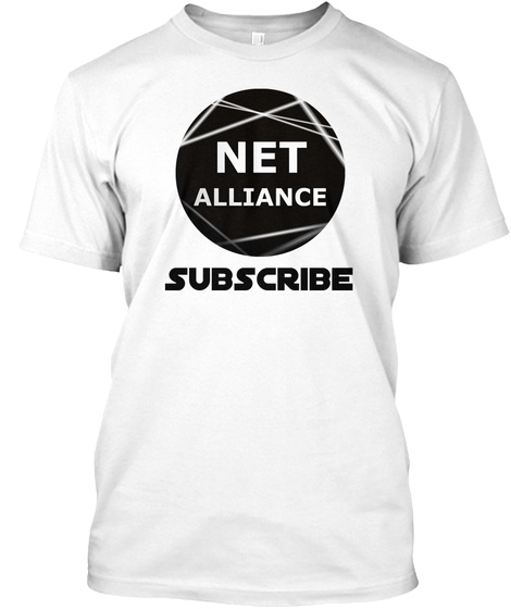 Net Alliance Subscribe White T-Shirt Front
