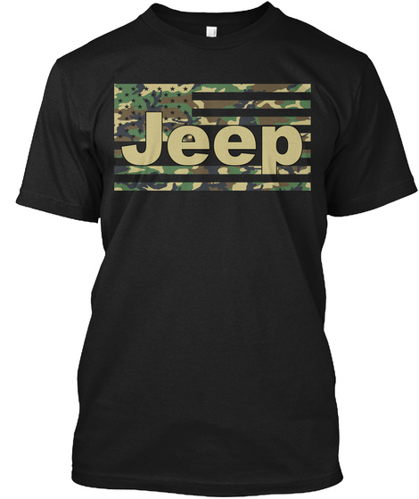 Jeep Black T-Shirt Front