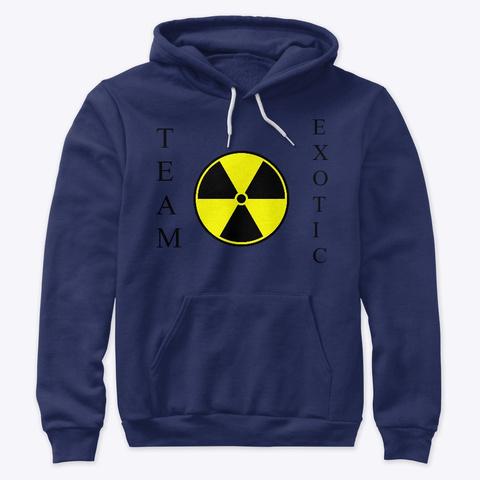 Hazard Team Exotic Hoodie Navy T-Shirt Front