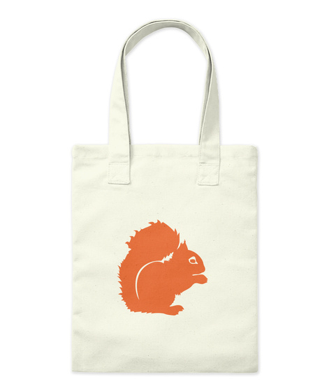 Squirrel Bag Natural Tote Bag Front