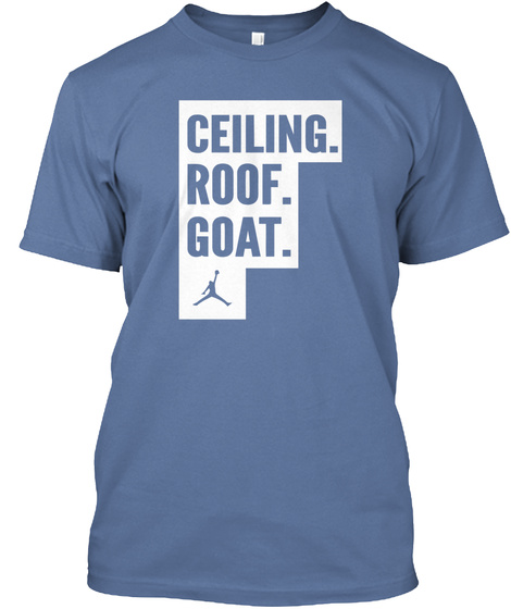 Ceiling Roof Goat Denim Blue T-Shirt Front