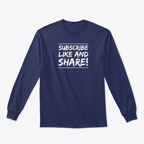 Classic Long Sleeve Tee #2 Navy T-Shirt Front