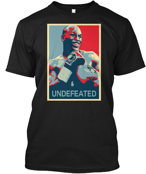 Floyd Undefeated Hope Poster Shirt Black T-Shirt Front
