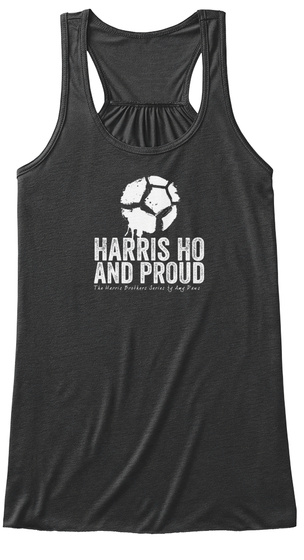 Harris Ho And Proud Dark Grey Heather T-Shirt Front