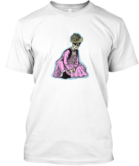 Thug Edwardian Lady White T-Shirt Front