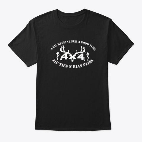 4x4 Black T-Shirt Front