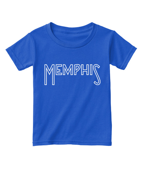 Memphis Toddler Tee Royal  T-Shirt Front