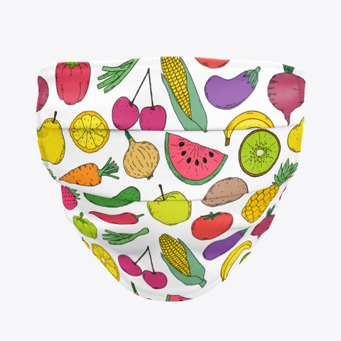 Awesome Gorgeous Fruits Face Mask Standard T-Shirt Front