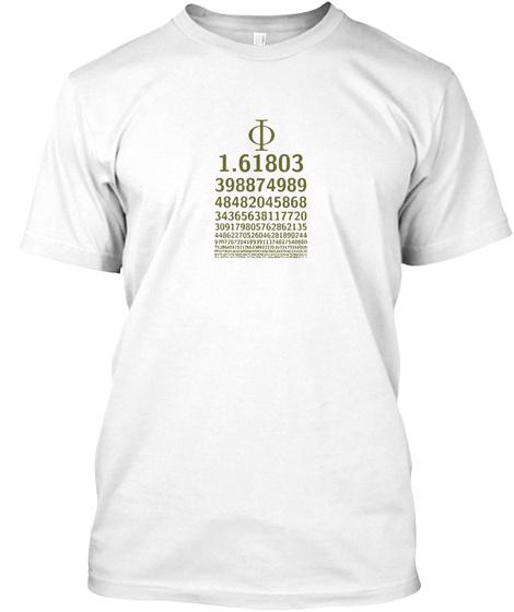 1618 Phi Symbol Golden Ratio Math Chart Products Teespring