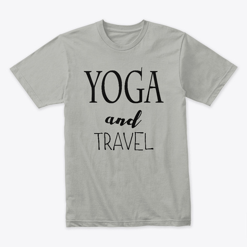 Yoga And Travel Light Grey T-Shirt Front