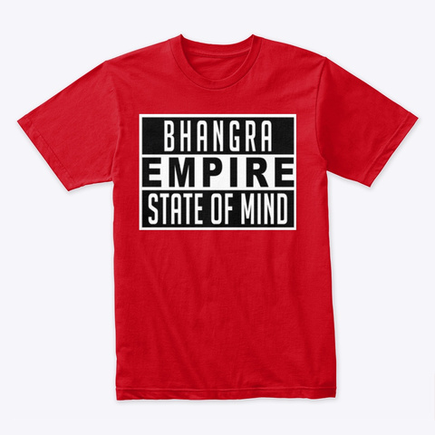 Bhangra Empire State Of Mind Shirt Red T-Shirt Front