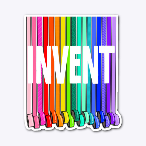 Invent With Tape In Rainbow Color Standard T-Shirt Front